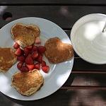 Americké pancakes s jahodami